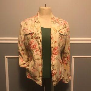 Casual Floral Blazer